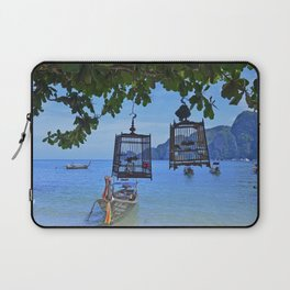 Bird Cages by the Sea Laptop Sleeve
