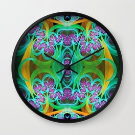 Cool colourdul curly pattern Wall Clock