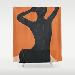 Abstract Nude I Shower Curtain
