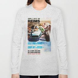 Gran Prix de Reims 1966, vintage poster, race poster, car poster Long Sleeve T-shirt