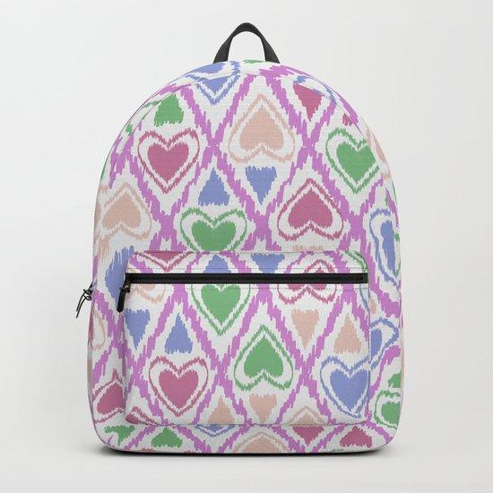 Favorite pattern . Brown, pink , green . Backpack