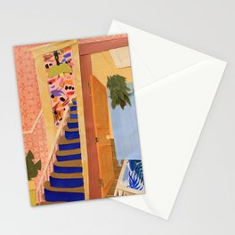 Blue Stairs  Stationery Cards