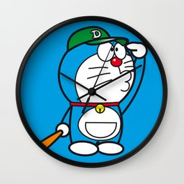 Doraemon baseball Wall Clock