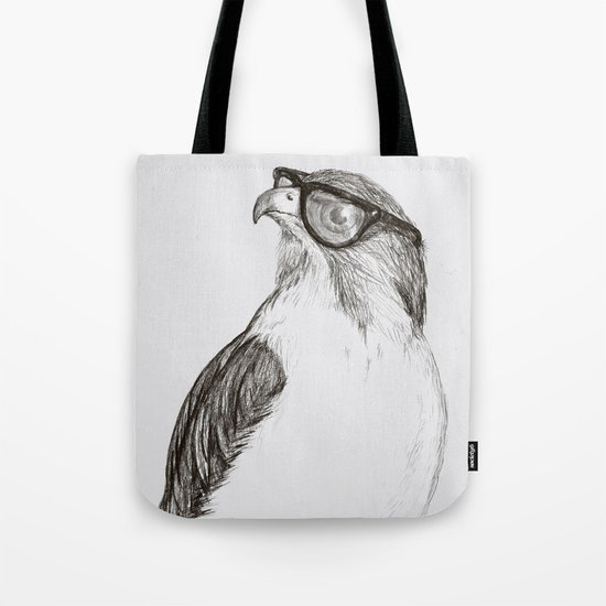 Hawk with Poor Eyesight Tote Bag