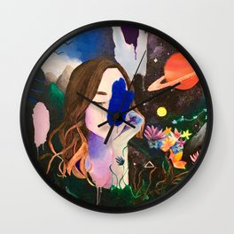 Galaxy Girl Wall Clock