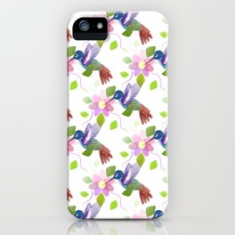 Seamless Nature Pattern iPhone Case