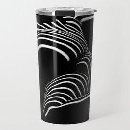 0758-AR BW Abstract Art Nude Striped Travel Mug