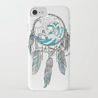 dream catcher iPhone & iPod Cases featuring Dream Catcher by Huebucket