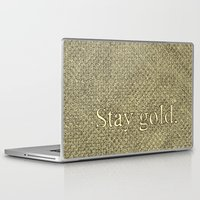 stay gold Laptop & iPad Skins featuring Stay Gold by Kelsey Roach