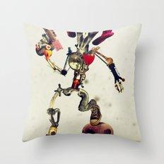 Invader Skull Throw Pillow
