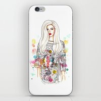 selena gomez iPhone & iPod Skins featuring selena illustration by sparklysky