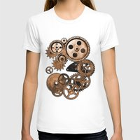 steam punk T-shirts featuring Steam Punk Gears by GrimDork