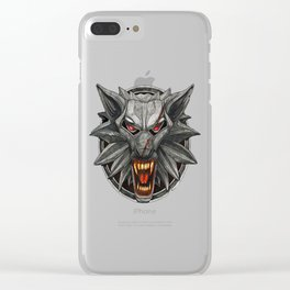 The Witcher Wolf Symbol Clear iPhone Case