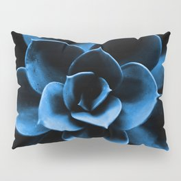 Dark Blue Succulent Plant #decor #society6 #homedecor Pillow Sham