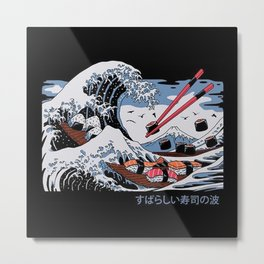 The Great Sushi Wave Metal Print