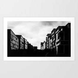 Building Duel Art Print