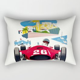 Classic Grand Prix Poster Rectangular Pillow