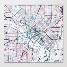 Dallas map Canvas Print