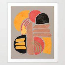 Modern shapes 2 Art Print
