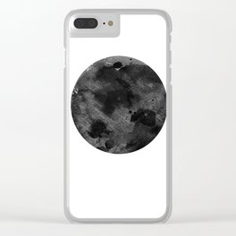 Full Moon, Planet,  Watercolour Art Clear iPhone Case