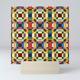 Abstract Minimal Geometric Flowers Sirrush Mini Art Print