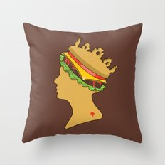 Burger Queen aka Royal With Cheese Throw Pillow