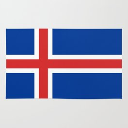 Flag of Iceland - High Quality Image Rug