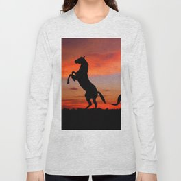 Horse Sunset Long Sleeve T-shirt