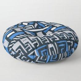 Primitive lino print Floor Pillow