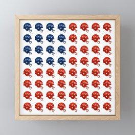American Football Flag Framed Mini Art Print