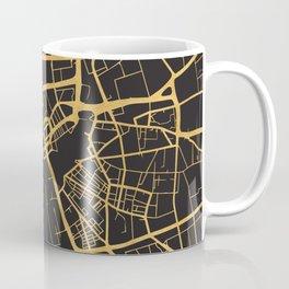 LIVERPOOL ENGLAND GOLD ON BLACK CITY MAP Coffee Mug