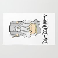 dumbledore Area & Throw Rugs featuring A-DUMBLEDORE-ABLE.  by BeckiBoos