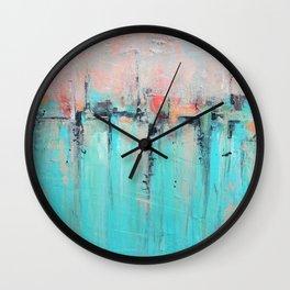 New Theory - Mixed Media Art Wall Clock