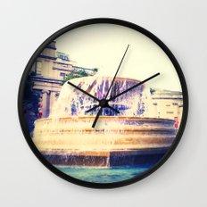 Fountain of Trafalgar Wall Clock