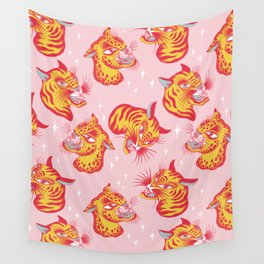 Tigerpop pattern Wall Tapestry