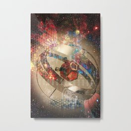 Rocket Flying Machine Metal Print