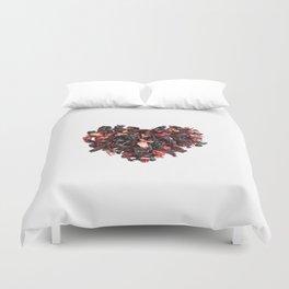 petals tea formed in heart shape Duvet Cover