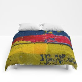 Blue, Red and Yellow Comforters