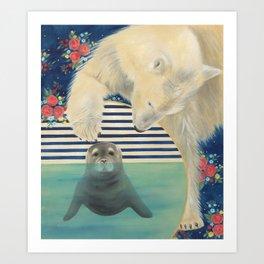 Polar Plunge Art Print