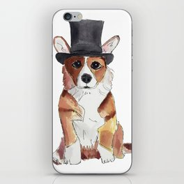 Dapper Corgi iPhone Skin