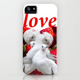 Love and Dove iPhone Case