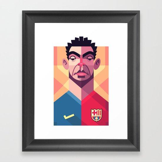 X6 | Blaugrana Framed Art Print