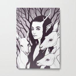 Doe Witch - Deer Spirit Animal Metal Print