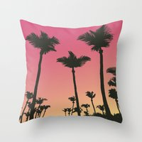 palms Throw Pillows featuring Palms by Cultivate Bohemia