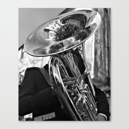 The Tuba Player Entertains Canvas Print