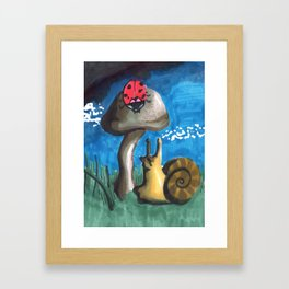 awesome ladybug Framed Art Print