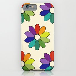 Flower pattern based on James Ward's Chromatic Circle (enhanced) iPhone Case