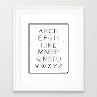 font Framed Art Prints featuring Craft Font by neuprouns