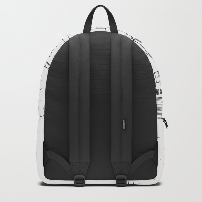 Harbour sketch Backpack