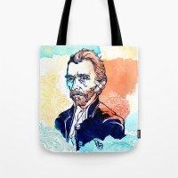 van gogh Tote Bags featuring Van Gogh by Jon Cain